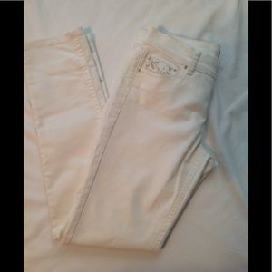 White House Black Market white denim jeans, EUC